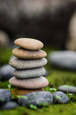 Stacked Stones B2 Art Print by Marco Oliveira