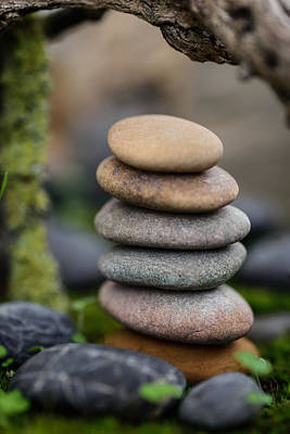 Stacked Stones B6 Print by Marco Oliveira