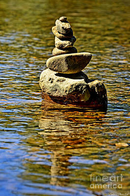 Photograph - Stacked Stones by Debbie Portwood