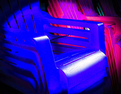 Photograph - Stacks Of Plastic Chairs by Christy Usilton