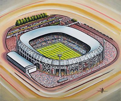Maas Painting - Stadion Feijenoord - Feyenoord by D J Rogers