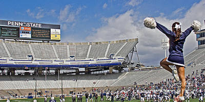 Psu Photograph - Stadium Cheer by Tom Gari Gallery-Three-Photography