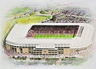 Sports Paintings - Stadium of Light - Sunderland by Kevin Fletcher