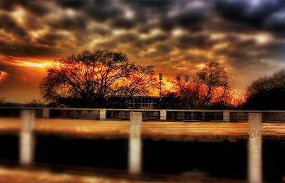 Photograph - Stadium Sunset by Jim Albritton