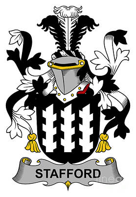 Stafford Coat Of Arms Irish Art Print by Heraldry