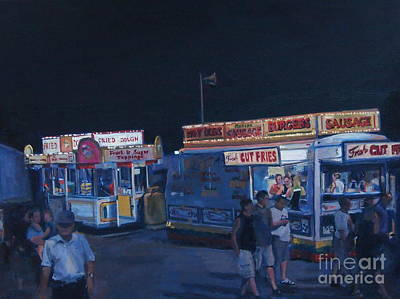 Burger Painting - Stafford Night by Deb Putnam