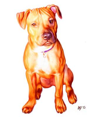 Staffie Painting - Staffordshire Bull Terrier by Iain McDonald