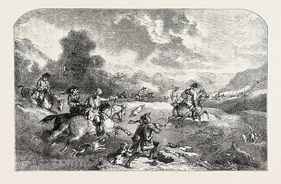 Stag-hunting In The Reign Of George II Art Print