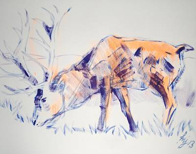 Painting - Stag by Mike Jory