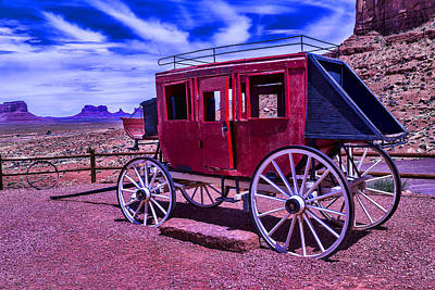 Photograph - Stage Coach Monument Valley by Garry Gay