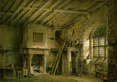 Grate Painting - Stage Design For Heart Of Midlothian The Tolbooth Inscribed by Litz Collection