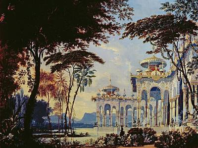 Elaborate Photograph - Stage Design For Ruslan And Lyudmila By Glinka, 1842 Wc & Gouache On Paper by Andrey Adamovich Roller