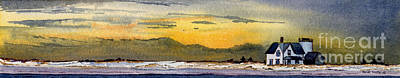 Chatham Lighthouse Painting - Stage Harbor Sunset by Heidi Gallo