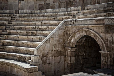 Photograph - Stage Right Roman Theater by Dave Hall