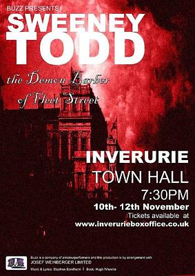 Sweeney Todd Digital Art - Stage Show Poster -  by Alireza Mirzaeisabet