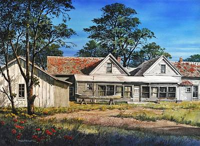 Stage Stop In Cresson Tx Art Print