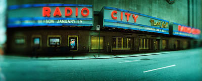 Stage Theater Photograph - Stage Theater At The Roadside, Radio by Panoramic Images