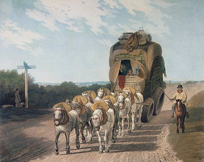 Stage Wagon Print by English School