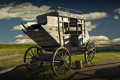 Stagecoach At 1880 Town In South Dakota Art Print
