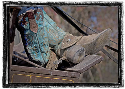 Photograph - Stagecoach Cowboy's Boots by Judy Deist