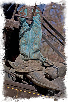 Photograph - Stagecoach Driver's Fancy Boots by Judy Deist
