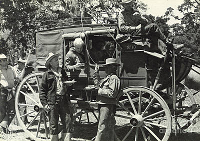 Photograph - Stagecoach Lunch 1935 by Patricia  Tierney