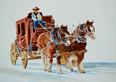 Painting - Stagecoach by Marilyn  Clement