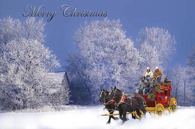 Target Threshold Nature Royalty Free Images - Stagecoach Ride Winter Snow Royalty-Free Image by Randall Branham
