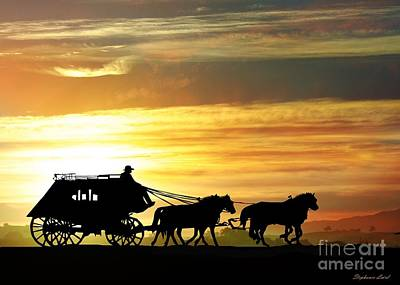 Draft Horses Photograph - Stagecoach by Stephanie Laird
