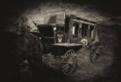 Stagecoach West Antique Textured Art Print