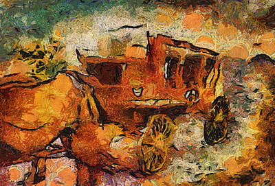 Stagecoach West Hot Day On The Trail Art Print