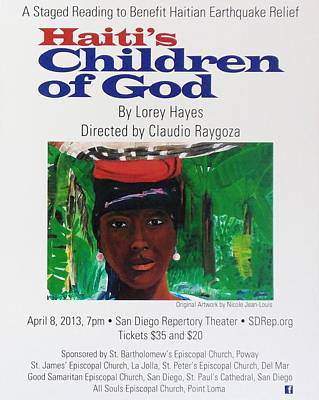 Painting - Staged Reading To Benefit Haitian Earthquake Relief by Nicole Jean-Louis