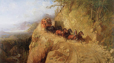 Fine Art In America Painting - Staging In California by Gutzon Borglum