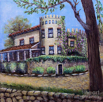 Napa Valley Vineyard Painting - Stags' Leap Manor House by Rita Brown