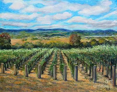 Painting - Stags' Leap Vineyard by Rita Brown