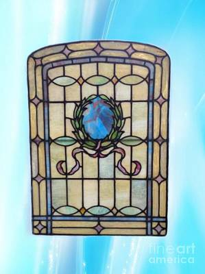 Photograph - Stain Glass Window by Becky Lupe