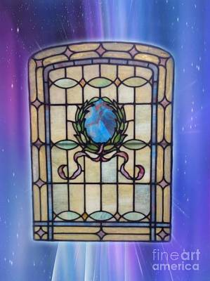 Photograph - Stain Glass Window Blues by Becky Lupe