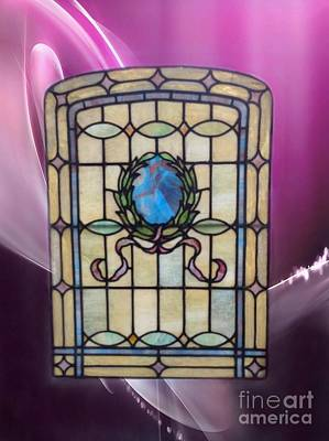 Photograph - Stain Glass Window In Pink Swirls by Becky Lupe