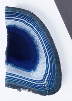Semiprecious Photograph - Stained And Polished Slice Of Agate by Dorling Kindersley/uig