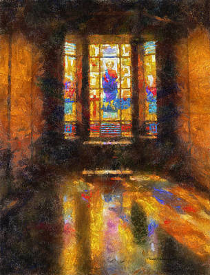 Religious Artist Digital Art - Stained Glass 04 Photo Art by Thomas Woolworth