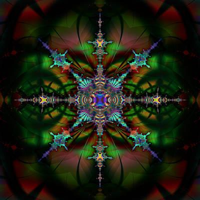 Digital Art - Stained Glass 111 by Kiki Art
