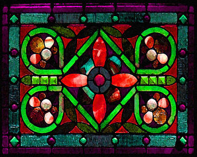 Photograph - Stained Glass 2 by Timothy Bulone