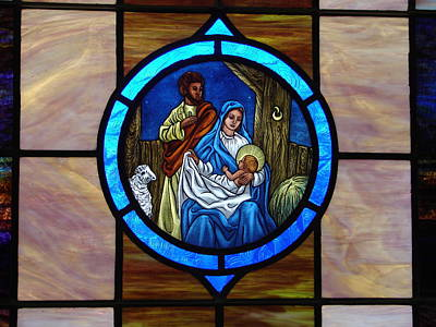 Photograph - Stained Glass 3 by Lew Davis
