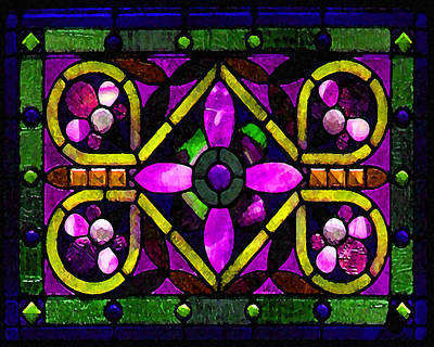 Photograph - Stained Glass 3 by Timothy Bulone