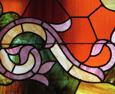 Photograph - Stained Glass 4 by Mary Bedy