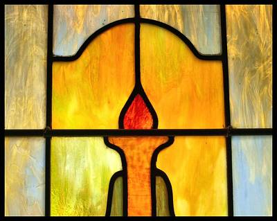 Stained Glass 7 Art Print by Tom Druin