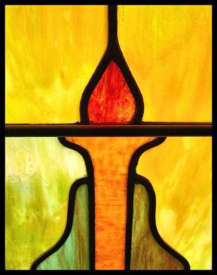 Stained Glass 8 Art Print by Tom Druin