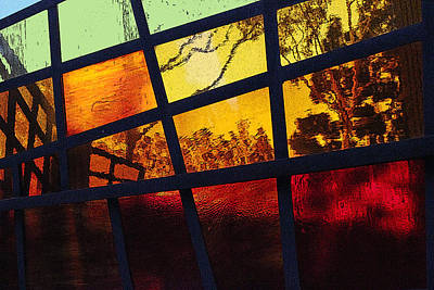 Stained Glass Abstract Art Print by Richard Stephen