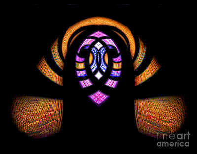 Digital Art - Stained Glass Abstract by Sue Stefanowicz