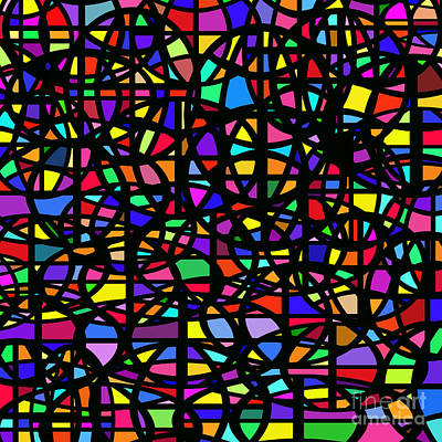 Digital Art - Stained Glass Abstract by Susan Stevenson